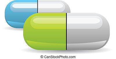 vektor, pille, abbildung