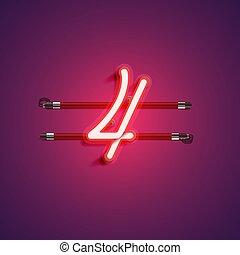 vektor, purple/red, zeichen, farbig, neon, abbildung