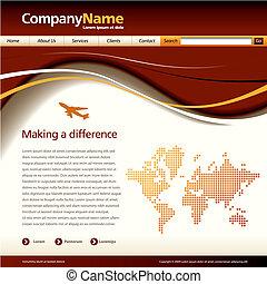 Vektor-Website-Schrift