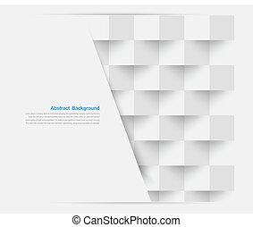 Vektor weiße Quadrate. Zurückfahren