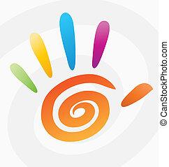 Vektorfarbige Spiralhand deaktivieren