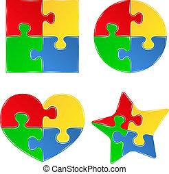 Vektorformen von Puzzlestücken