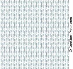Vektorgeometrische Würfelmuster, Grau nahtlos.