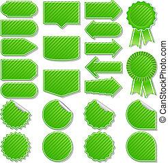 Vektorgrüne Preisschilder