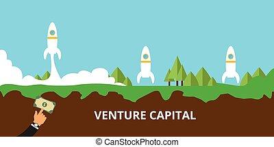 Venture Capital startet ihren Start.