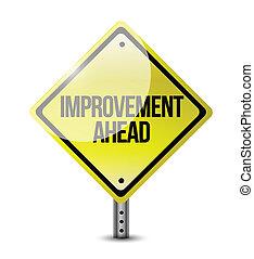 Verbesserungen vor dem Straßenschild