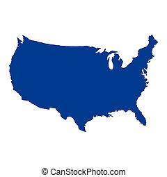 Vereinigte Staaten von Amerika Karte.