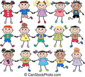 Vereinte gemischte Kinder