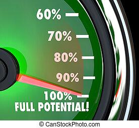 verfolgen, ziel, voll, erreichen, potential, geschwindigkeitsmesser