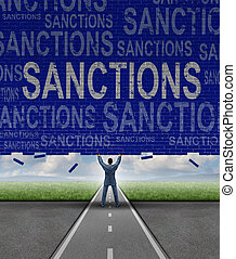 Verhängen Sanktionen.