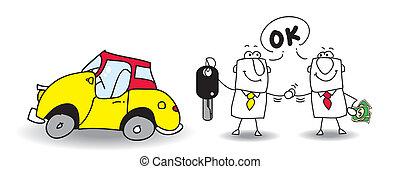 verkaufen, auto, dein