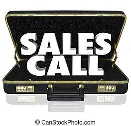 Verkaufsgespräche mit offenem Aktenkoffer.