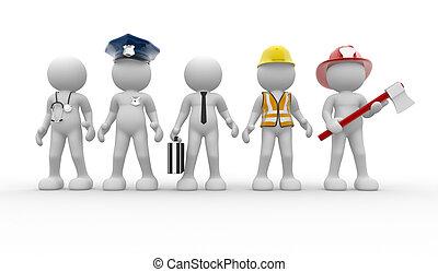 Verschiedene Berufe