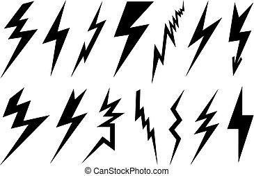 Verschiedene Blitze.
