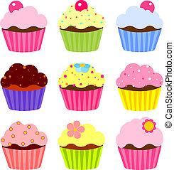Verschiedene Cupcakes