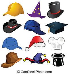 Verschiedene Hüte