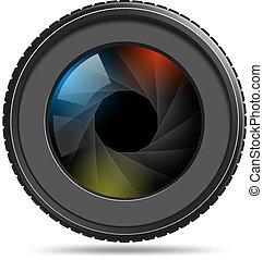verschluß, kamera linse, foto