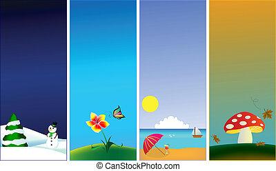 Vertikale Banner - 4 Saisons