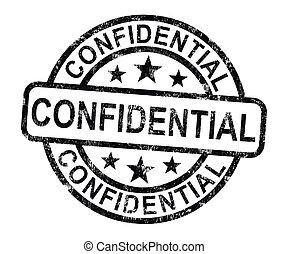 Vertrauliche Briefmarke zeigt private Korrespondenz oder Dokumente