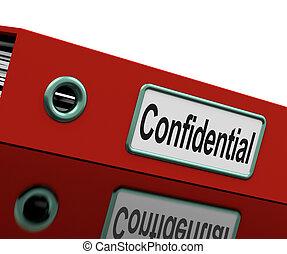Vertrauliche Datei zeigt private Korrespondenz oder Dokumente
