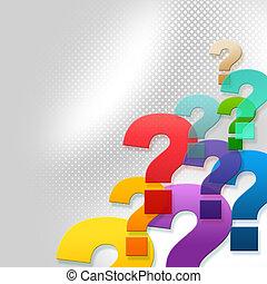 vertritt, frage, fragen, markierungen, antwort, frequently, fragte