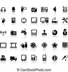 Video- und Audio-Icon-Set