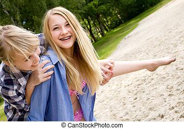 Viel Spaß im Sand