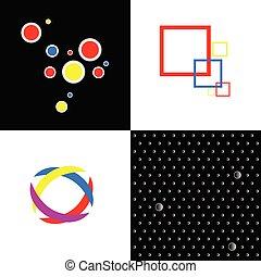 Vier abstrakte Symbole für Vektoren