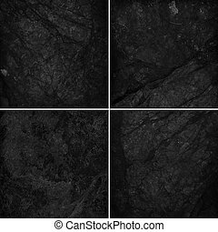 Vier verschiedene schwarze Marmor-Stimme
