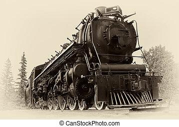 Vintage-Foto von Dampfzug