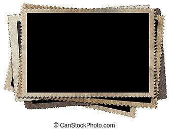Vintage Fotorahmen isoliert auf weiß.