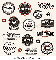 Vintage-Kaffee-Labels