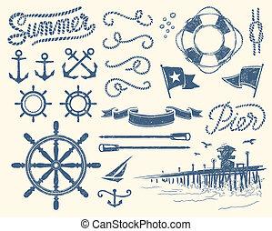 Vintage Nautical Set.