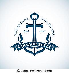 Vintage nautische Marke