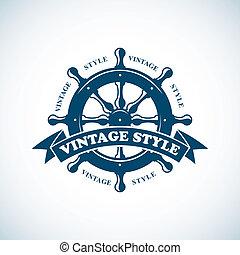 Vintage nautischer Abzeichen.