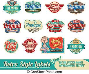 Vintage Retro Labels und Tags.