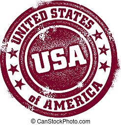 Vintage-USA-Stempel