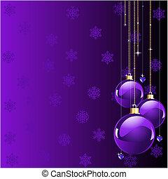 Violet malt Weihnachten