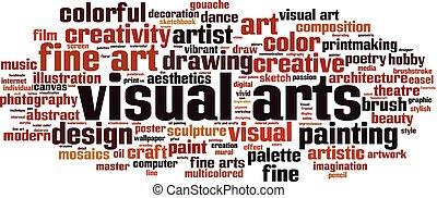 visuelle Kunstwortwolke