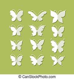 vlinders, fester entwurf, dein
