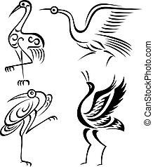 vogel, abbildung, kranservice