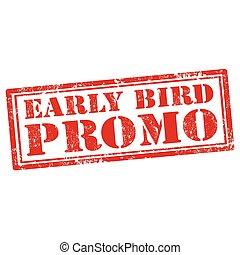 vogel, promo-stamp, früh