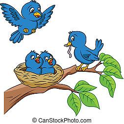 Vogelfamilie.