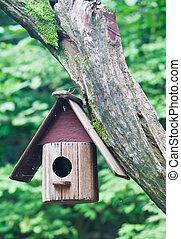 Vogelhaus auf einem Baum.