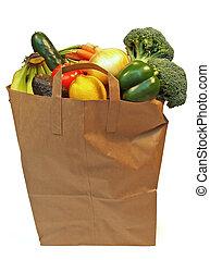 Voller Lebensmittelsack
