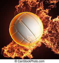 Volleyball in Feuer