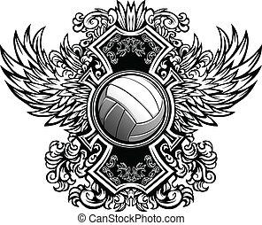 Volleyball ornate grafischer Vektor te