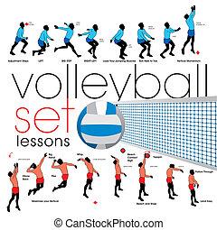 Volleyball-Unterricht.