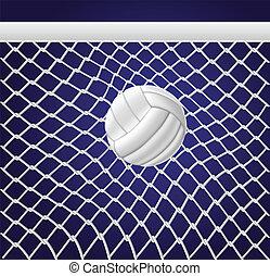 Volleyballnetz und Ball