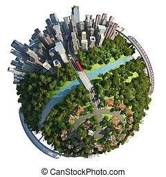 Vor- und Stadt-Erdball-Konzept
